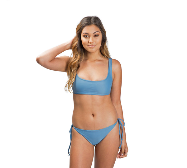 DARA Scoop Neck Bikini - Espresso - Serei Swim