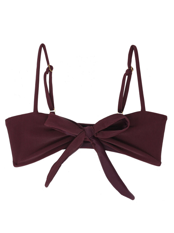 TEVVY top - Ribbed Plum