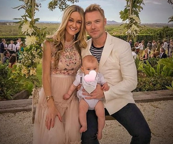 Storm & Ronan Keating use Neckerchew with their little one Cooper