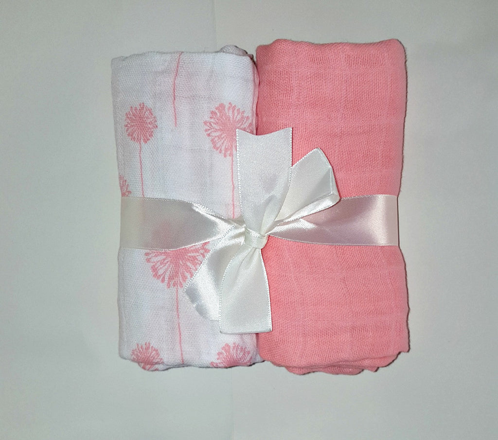 Two pack cotton muslin diapers