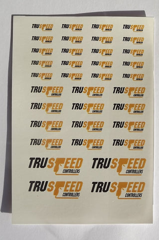 Slot Car Decal, TruSpeed Logo Sheet #1