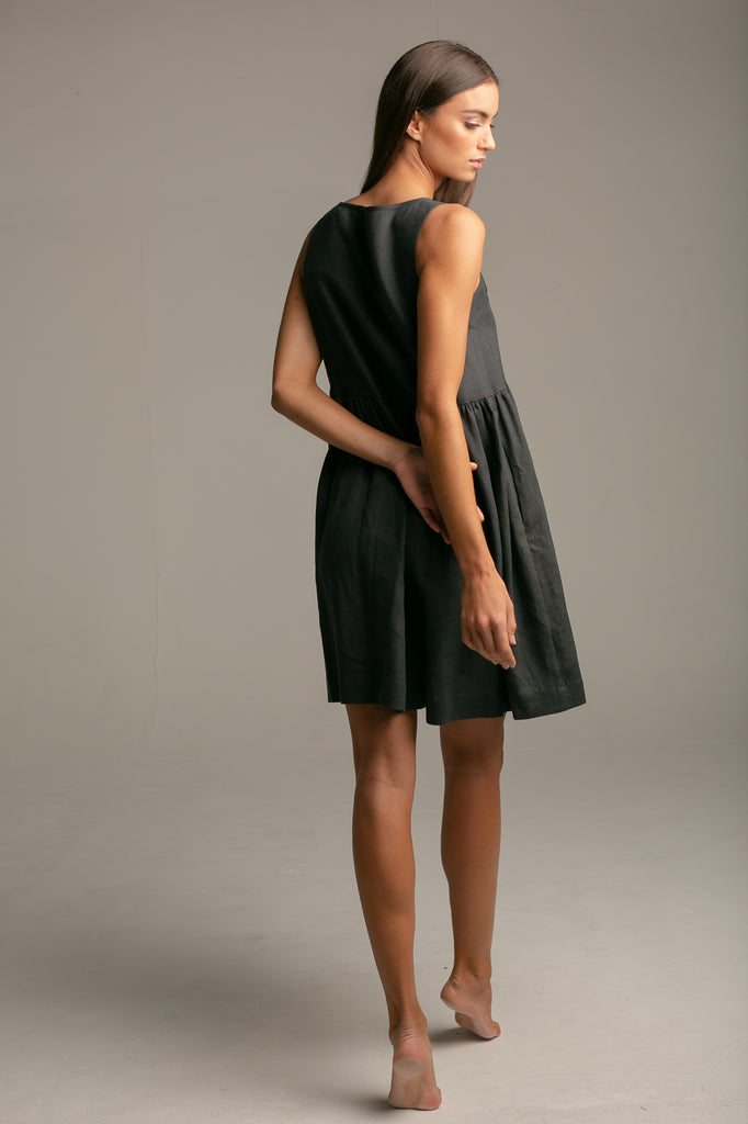 Sleeveless Dress / Vintage Black