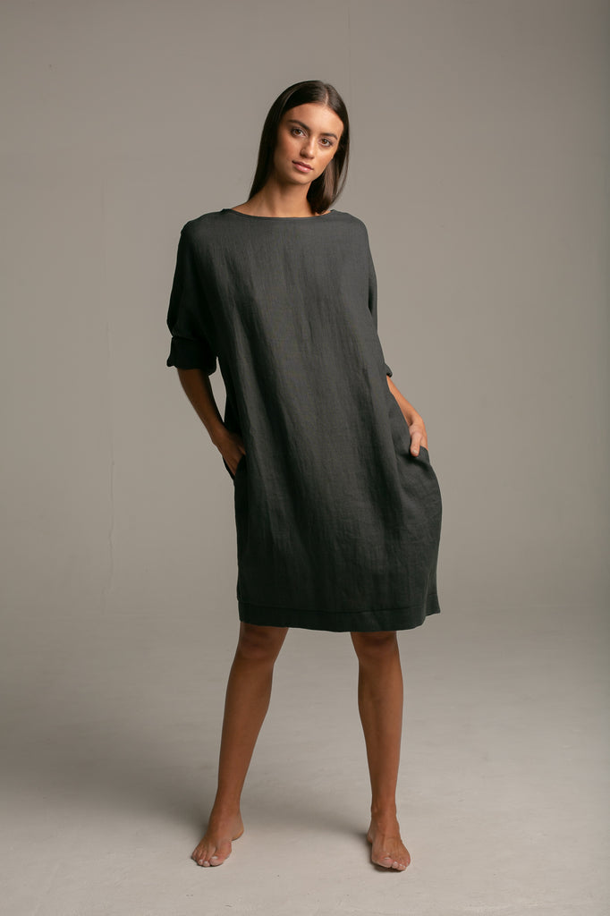 Cocoon Dress / Vintage Black