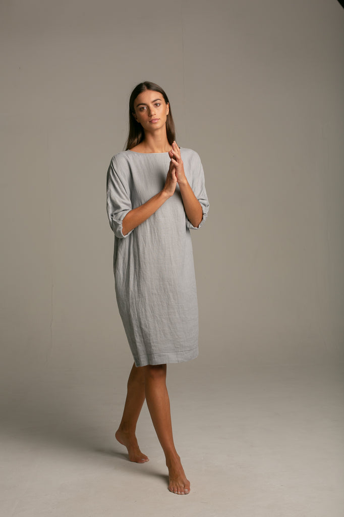Cocoon Dress / polar grey