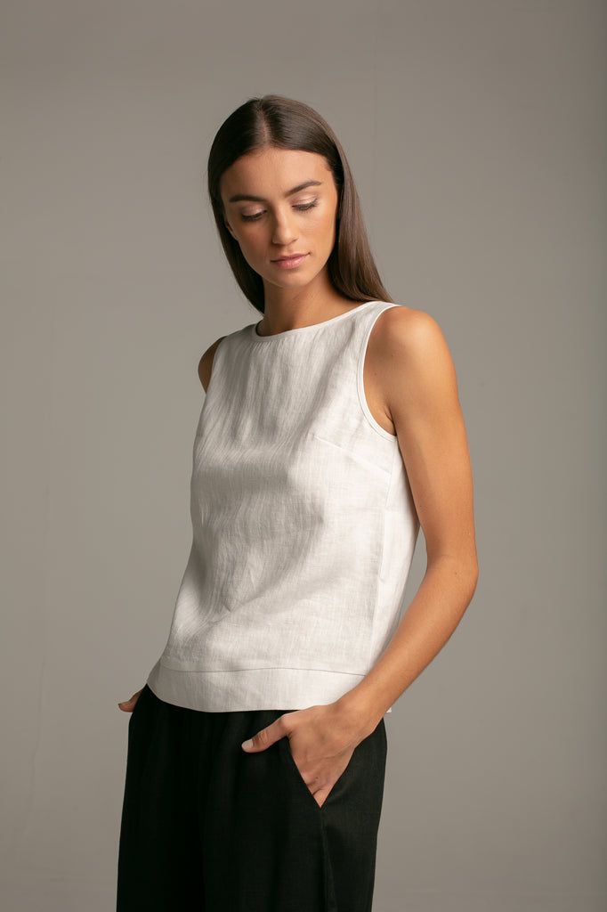 Sleeveless top / Milk White
