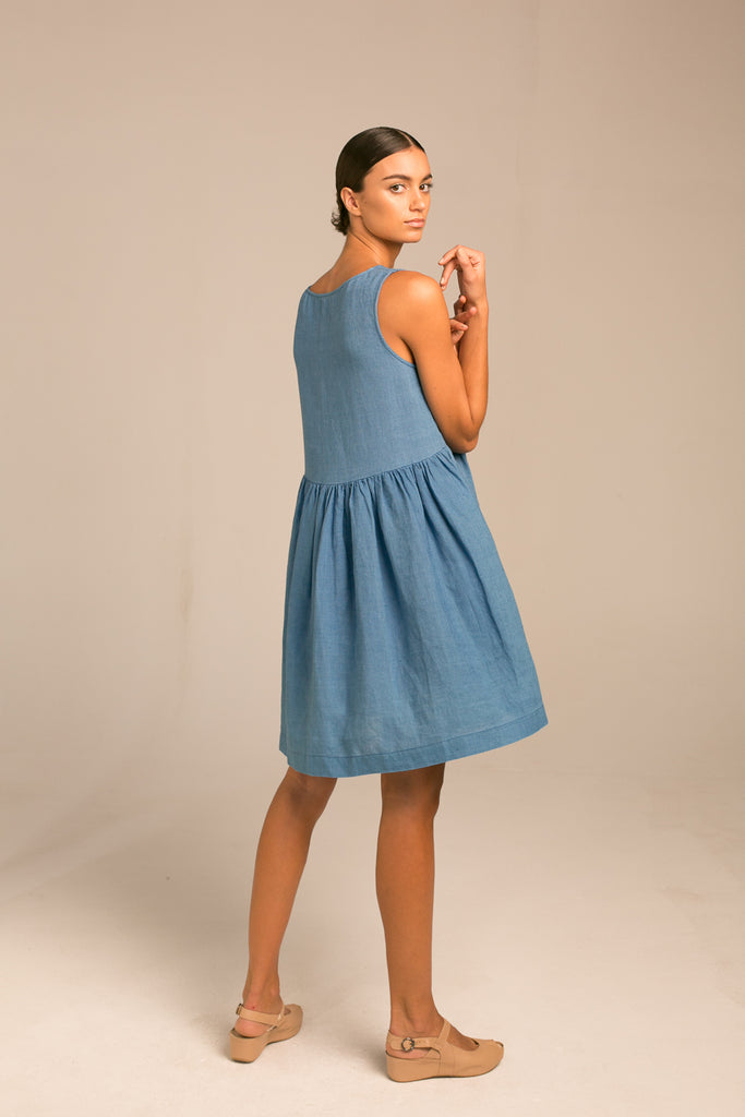 Sleeveless Dress / True Indigo