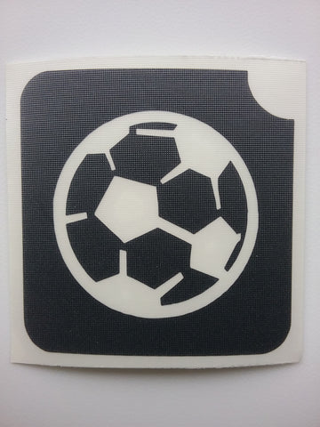 Glitter Tattoo Stencil - Soccer Ball