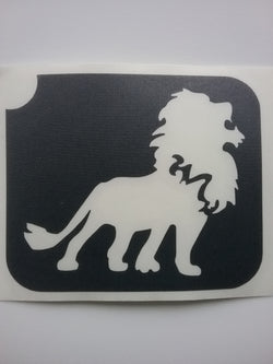 Glitter Tattoo Stencil - Lion