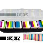 FUSION One-Stroke Pallette, Colour Punch 6 x 10g
