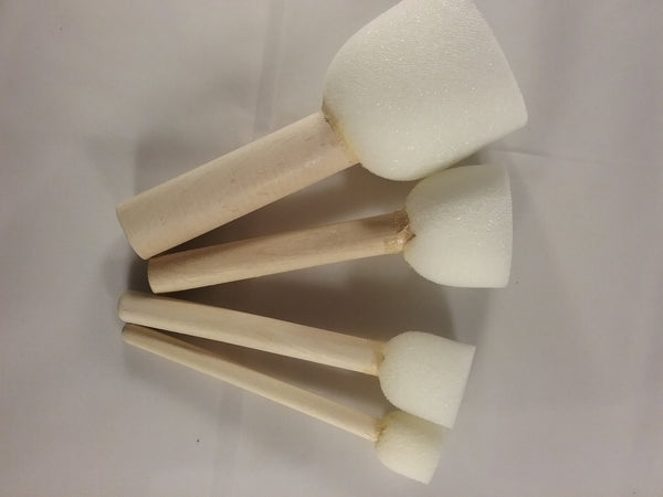 Dauber Sponges, 4 pack with wooden handle (various sizes)