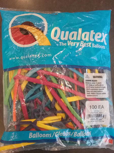 Qualatex Balloons 100 pack Tropical Assortment