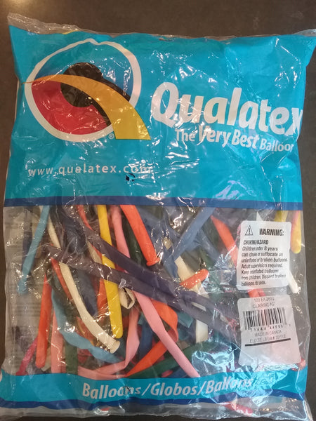 Qualatex Balloons 100 pack Classix Assortment