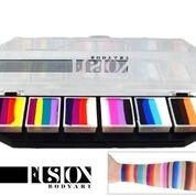 FUSION One-Stroke Pallette, Rainbow Splash 6 x 10g