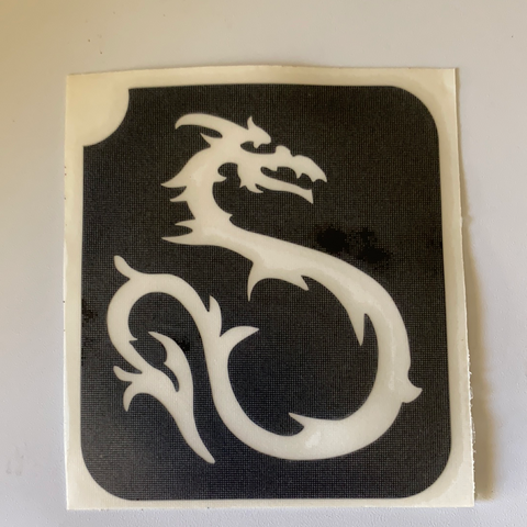 Glitter Tattoo Stencil - Dragon