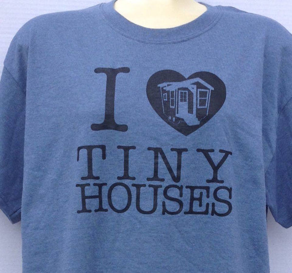 Plus Size - Tiny House Love T-Shirt - Blue (b)