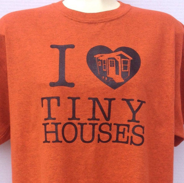 Plus Size - Tiny House Love T-Shirt - Orange (b)