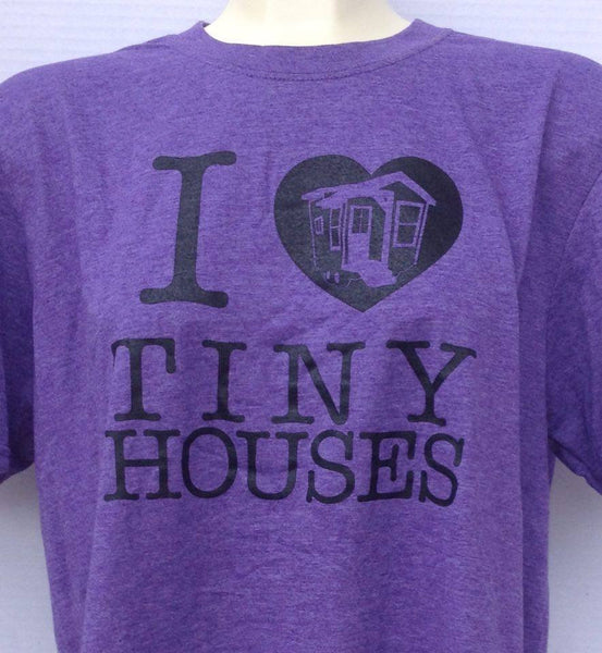 Plus Size - Tiny House Love T-Shirt - Purple (b)