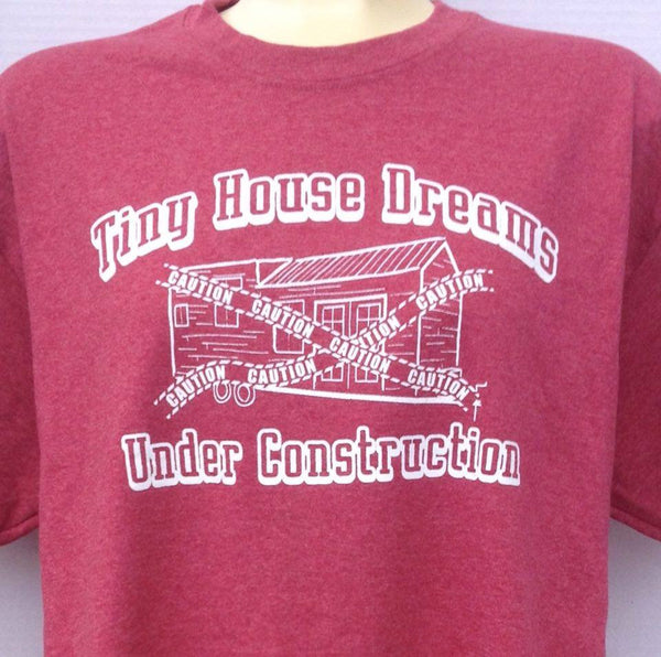 Tiny House Under Construction T-Shirt - Red (w)