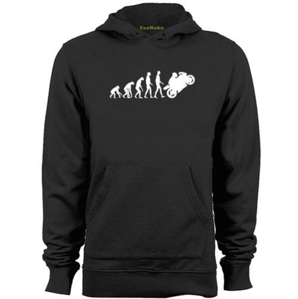 MOTORBIKE-MOTORCYCLE-APE-TO-EVOLUTION-Mens & Womens-Hoodies-Black