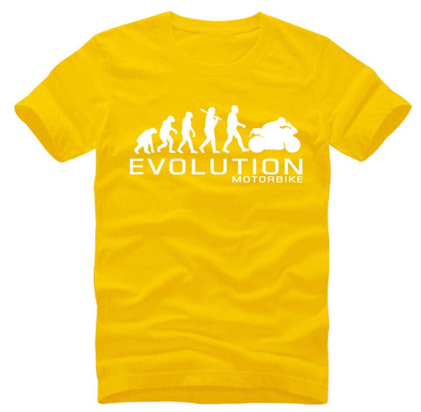 Motorcycle Evolution - unisex-Shirt-Yellow