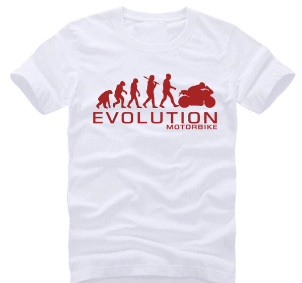 Motorcycle Evolution - unisex-Shirt-White