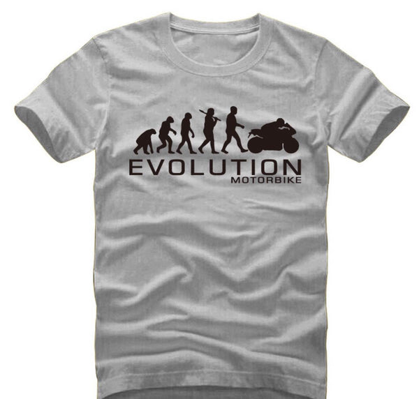 Motorcycle Evolution - unisex-Shirt-Grey