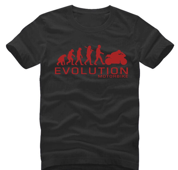 Motorcycle Evolution - unisex-Shirt-Black