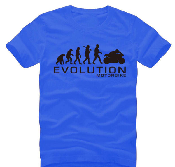 Motorcycle Evolution - unisex-Shirt-Blue