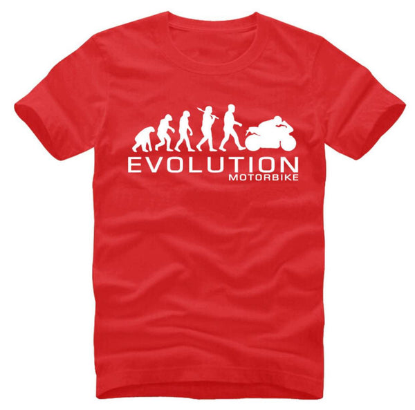 Motorcycle Evolution - unisex-Shirt-red