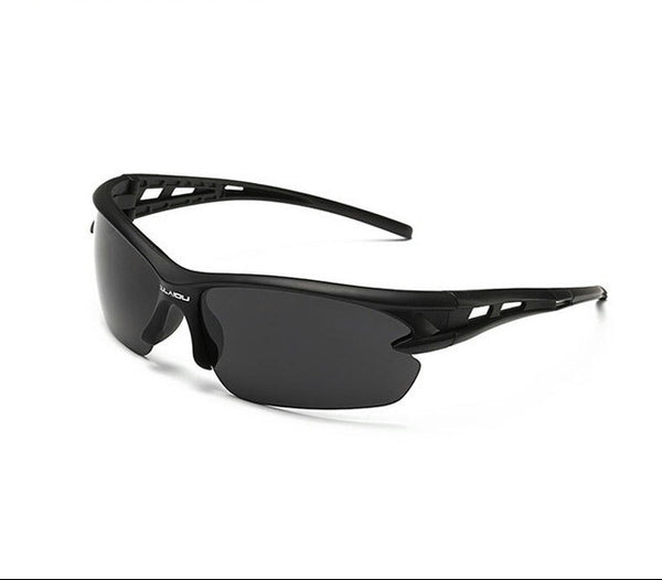 Sport Sunglasses-Cycling Glasses-Bike Fishing-Black lanse-Black frame