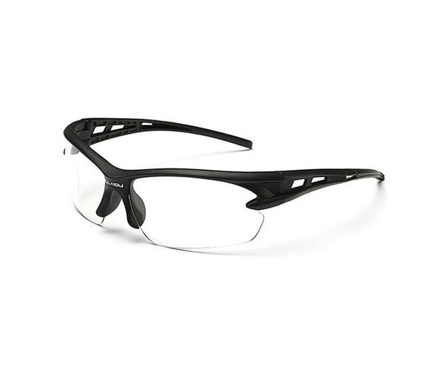 Sport Sunglasses-Cycling Glasses-Bike Fishing-Clear lanse-Black frame