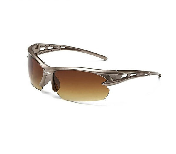 Sport Sunglasses-Cycling Glasses-Bike Fishing-Brown lanse-Gray frame