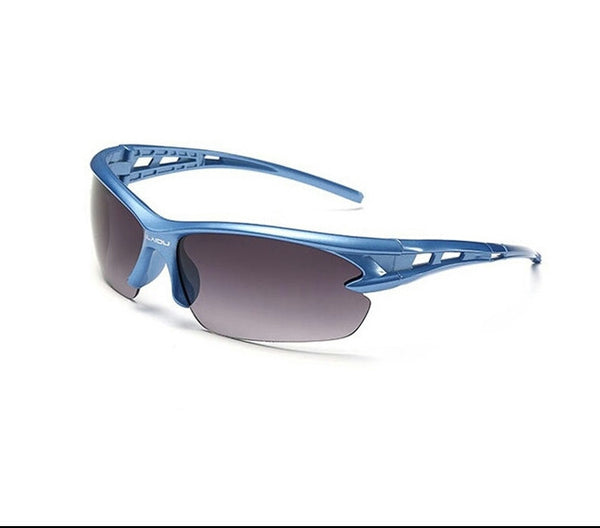 Sport Sunglasses-Cycling Glasses-Bike Fishing-Blue lanes-Blue frame