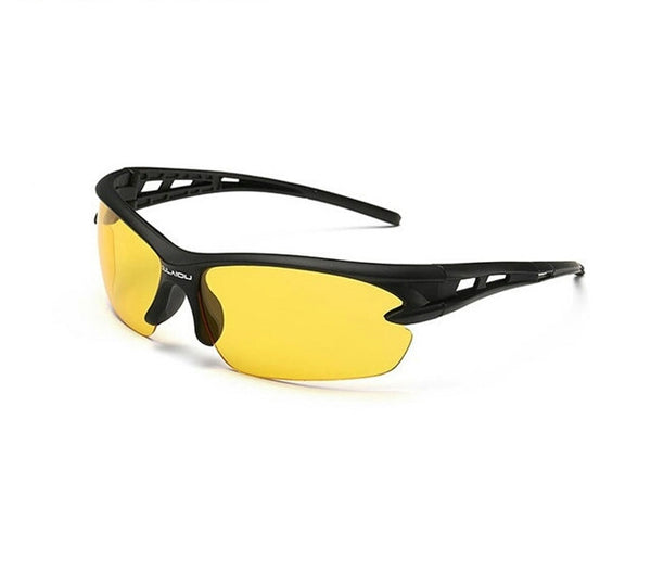 Sport Sunglasses-Cycling Glasses-Bike Fishing-Yellow lanse-Black frame