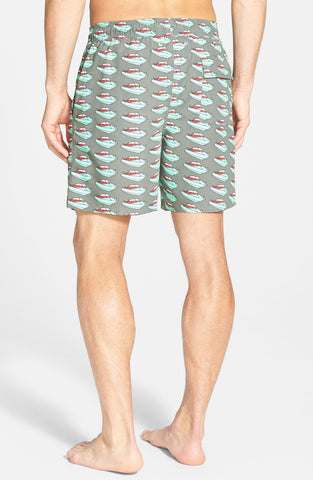 Tom & Teddy - 'Speedboat Pattern' Swim Trunks - shop on Greybox