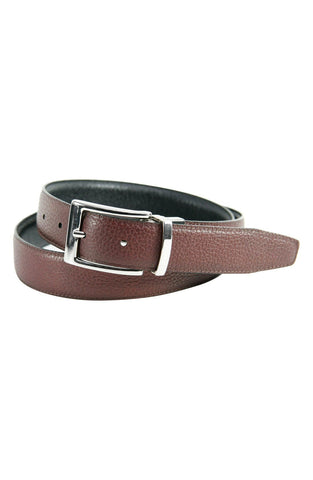 Trafalgar - 'Dorado' Reversible Leather Belt - shop on Greybox