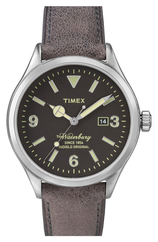 Timex® - 'Originals' Leather Strap Watch, 40mm - shop on Greybox