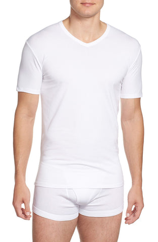 Stretch Cotton V-Neck T-Shirt (2-Pack)