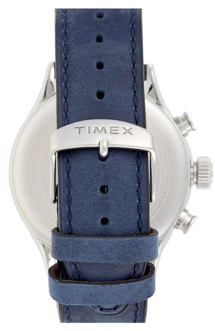 Timex® - 'Originals' Chronograph Leather Strap Watch, 42mm - shop on Greybox