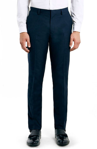 Topman - Skinny Fit Navy Suit Trousers - shop on Greybox