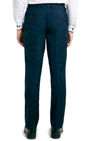Skinny Fit Navy Suit Trousers