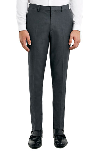 Topman - Skinny Fit Grey Suit Trousers - shop on Greybox