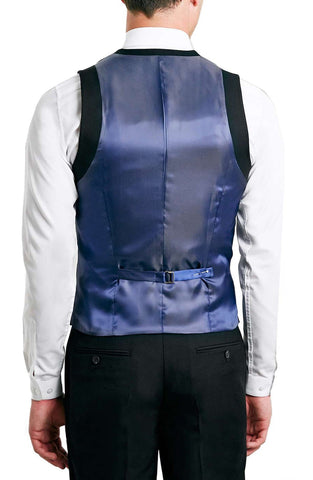 Topman - Black Twill Vest - shop on Greybox