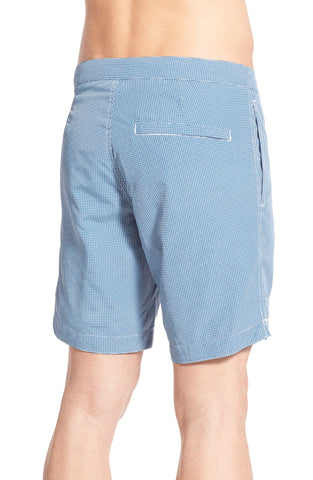 boto - 'Aruba' Tailored Fit Microcheck Swim Trunks (8.5 inch) - shop on Greybox