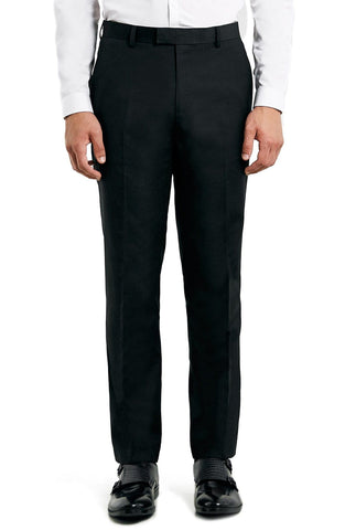 Topman - Slim Fit Black Twill Suit Trousers - shop on Greybox