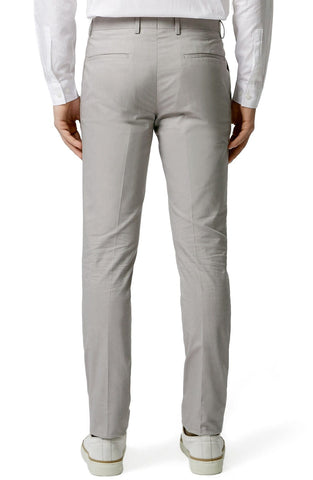 Topman - Light Grey Chambray Skinny Fit Suit Trousers - shop on Greybox