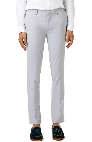 Topman - Ultra Skinny Fit Light Grey Suit Trousers - shop on Greybox