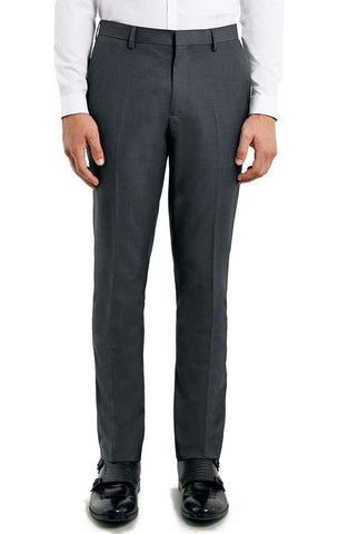 Topman - Slim Fit Grey Suit Trousers - shop on Greybox