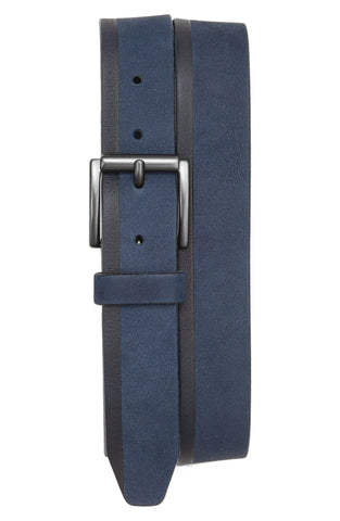 Trafalgar - 'Harry' Suede & Leather Belt - shop on Greybox