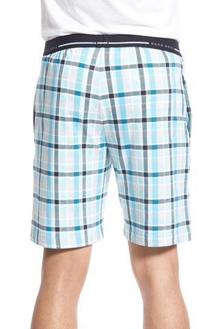 BOSS - 'Relax' Plaid Jersey Lounge Shorts - shop on Greybox
